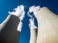 Cooling towers of nuclear power plant Stock Images