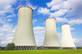 Cooling towers of power plant Stock Photography