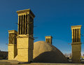 Cooling wind tower, Yazd, Iran Royalty Free Stock Photo