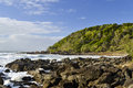 Coolum sunshine coast queensland australia small cove at Royalty Free Stock Photography
