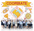 Cooperate Together Team Teamwork Partnership Concept Royalty Free Stock Photo