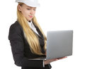 Coordenador woman with laptop Imagem de Stock Royalty Free