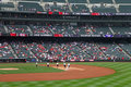 Coors field grounds crew Royalty Free Stock Images