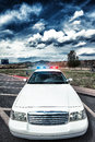 Cop car special photographic processing Stock Photography
