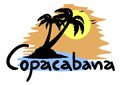 Copacabana beach creative design of Royalty Free Stock Photos