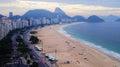 Copacabana beach during football festival rio de janeiro the world cup Royalty Free Stock Photo