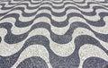 Copacabana beach mosaic in rio de janeiro brazil Stock Photos