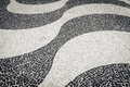 Copacabana mosaic backgroung sidewalk in rio de janeiro brazil Royalty Free Stock Photography