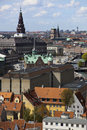 Copenhagen from above. Denmark Stock Images