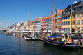 Copenhagen canal, boats. Stock Images
