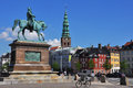 Copenhagen cavalier s memorial and st nikolai church denmark Stock Photos