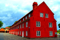 Copenhagen citadel kastellet bright red building in the of denmark Stock Photos