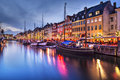 Copenhagen denmark nyhavn canal in demark Royalty Free Stock Images