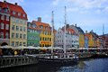 Copenhagen denmark unidentified people in open cafes of the famous nyhavn promenade in nyhavn is one of the Royalty Free Stock Photography