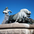 Copenhagen gefion fountain the in the statue showing plowing zealand out of sweden the is in the Stock Image
