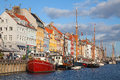 Copenhagen (Nyhavn district) in a sunny summer day Royalty Free Stock Photos