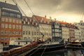 Copenhagen Nyhavn harbor Royalty Free Stock Photo