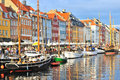 Copenhagen,  Nyhavn harbor Royalty Free Stock Photo