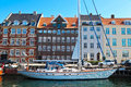 Copenhagen nyhavn is a th century waterfront canal and entertainment district in Royalty Free Stock Photos