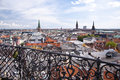 Copenhagen panorama of in denmark Royalty Free Stock Photo