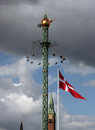Copenhagen sky fairground fun fair in tivoli gardens in denmark Stock Photo