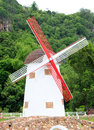 A copies Dutch windmill Royalty Free Stock Photography