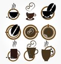 Copo de coffee.set. Fotografia de Stock Royalty Free