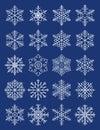 Copos de nieve geométricos compuestos Imagenes de archivo
