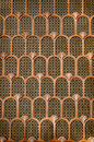 Copper art deco background beautiful arch Royalty Free Stock Photography