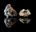 Copper bearing chalcopyrite Stock Photos