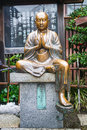 Copper buddha statue Royalty Free Stock Photo