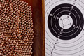Copper bullet shooting guns used with air or gas Royalty Free Stock Image