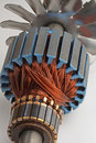Copper Coils from Electric Motor Royalty Free Stock Photo