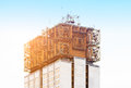 Copper construction on building Royalty Free Stock Photo