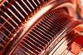 Copper cpu cooler Royalty Free Stock Photo
