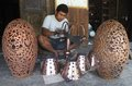 Copper craft worker making from in solo central java indonesia Stock Photography