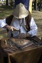 Copper craftsman at work Royalty Free Stock Photography
