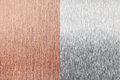 Copper foil and aluminium foil (sheet) texture Stock Image