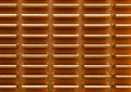Copper heat sink on computer motherboard Royalty Free Stock Photo