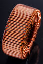 Copper inductor Royalty Free Stock Photos