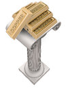 Copper ingot groupon antique column render illustration Royalty Free Stock Photography