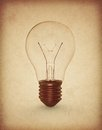 Copper old bulb Royalty Free Stock Images