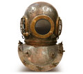 Copper old vintage deep sea diving suit Royalty Free Stock Photo