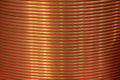 Copper pipe for industry and energy of the round winding Royalty Free Stock Images