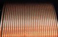 Copper pipe for industry and energy of the round winding Stock Photography