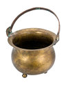 Copper pot with a handle Royalty Free Stock Photo