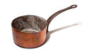 Copper pot or saucepan Stock Image