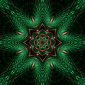 Copper relief star mandala Royalty Free Stock Photo