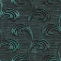 Copper seamless texture with flowers pattern on a oxide metallic background