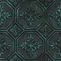 Copper seamless texture with geometric pattern on a oxide metallic background